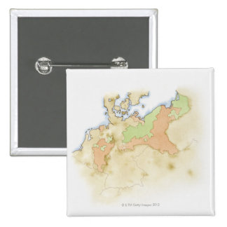 Illustration of map of Germany Button