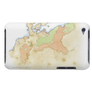 Illustration of map of Germany iPod Touch Cover