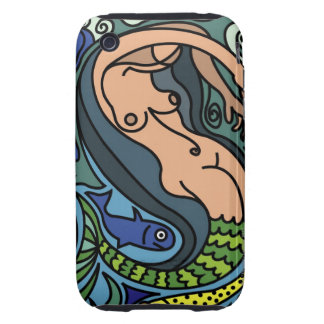 Illustration of Mermaid Tough iPhone 3 Covers