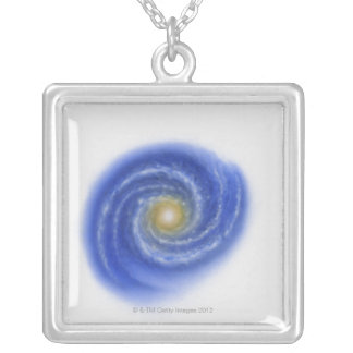 Illustration of Milky Way Square Pendant Necklace