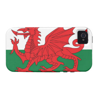 Illustration of national flag of Wales, with red iPhone 4 Cover