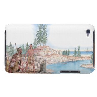 Illustration of Native Americans pointing with iPod Touch Cover