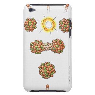 Illustration of neutron hitting Uranium-235 Barely There iPod Case