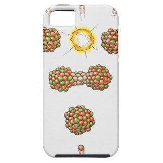 Illustration of neutron hitting Uranium-235 iPhone SE/5/5s Case