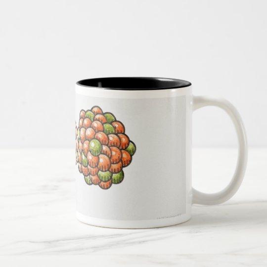 Illustration of neutron hitting Uranium-235 Two-Tone Coffee Mug