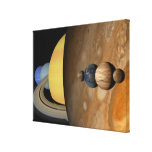 Illustration of Nine Planets in the Solar System Gallery Wrapped Canvas