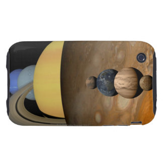 Illustration of Nine Planets in the Solar System iPhone 3 Tough Case