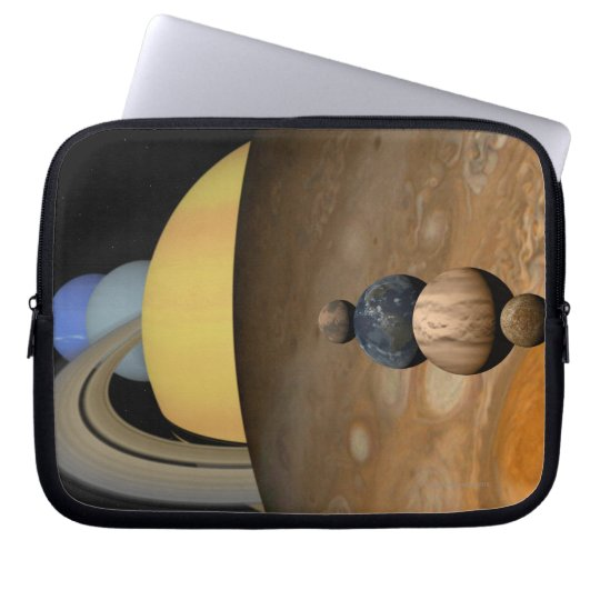 Illustration of Nine Planets in the Solar System Computer Sleeve