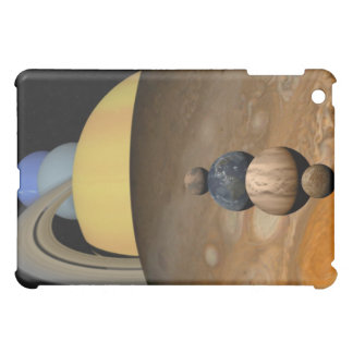 Illustration of Nine Planets in the Solar System Cover For The iPad Mini