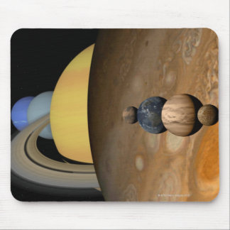 Illustration of Nine Planets in the Solar System Mouse Pad