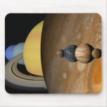 Illustration of Nine Planets in the Solar System Mousepads