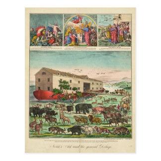 Illustration of Noah s Ark and the General Deluge Postcard