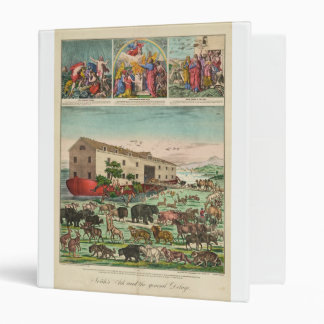 Illustration of Noah's Ark and the General Deluge 3 Ring Binder