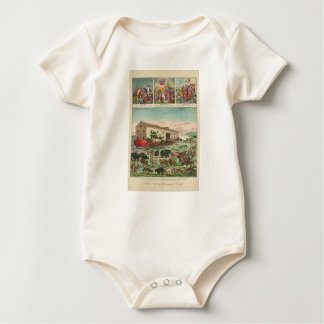 Illustration of Noah's Ark and the General Deluge Baby Bodysuit