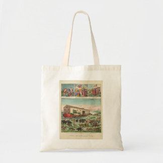 Illustration of Noah's Ark and the General Deluge Tote Bag