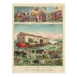 Illustration of Noah's Ark and the General Deluge Postcard
