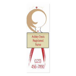 Illustration of Nurse Double-Sided Mini Business Cards (Pack Of 20)