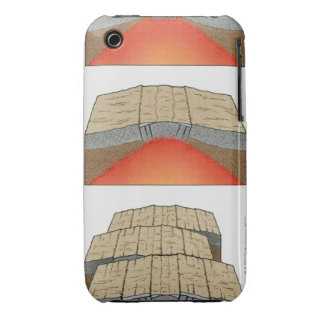 Illustration of oceanic plates moving apart and iPhone 3 Case-Mate case