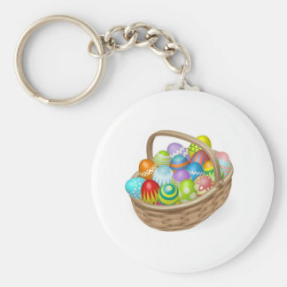 Illustration of painted Easter eggs Keychain