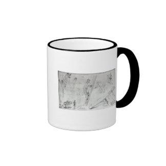 Illustration of Painting and Decorating Coffee Mug