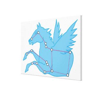 Illustration of Pegasus constellation Canvas Print