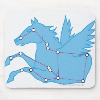 Illustration of Pegasus constellation Mouse Pad