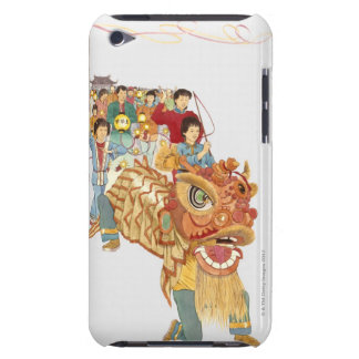 Illustration of people celebrating Chinese New Barely There iPod Cover