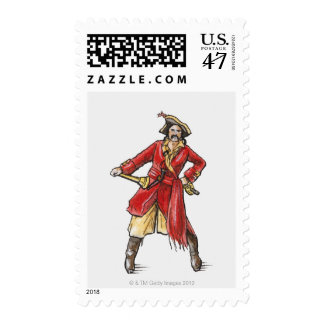 Illustration of pirate postage