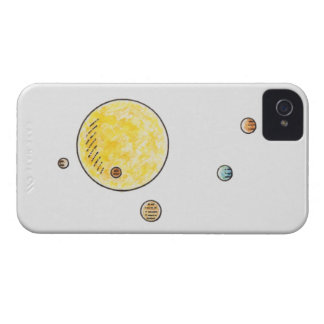 Illustration of planets orbiting the Sun iPhone 4 Cover