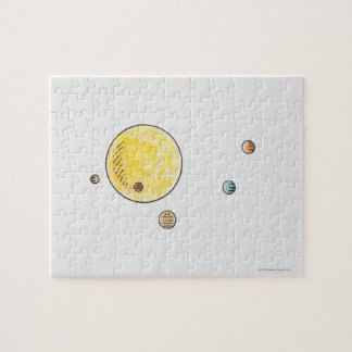 Illustration of planets orbiting the Sun Puzzle
