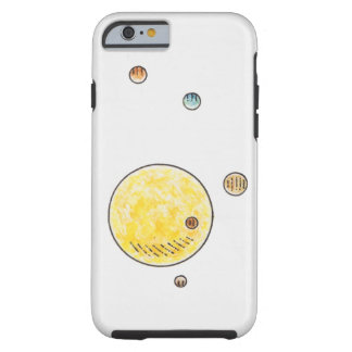 Illustration of planets orbiting the Sun Tough iPhone 6 Case