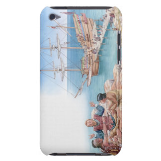 Illustration of Pocahontas and her father Barely There iPod Cover