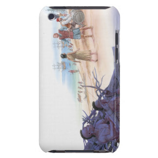 Illustration of Pocahontas talking with Captain Barely There iPod Covers