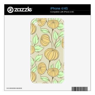 Illustration of pumpkins iPhone 4 decals