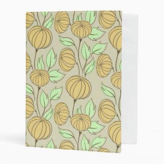Illustration of pumpkins mini binder