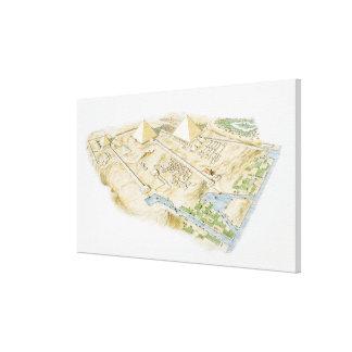 Illustration of Pyramids of Giza Canvas Print
