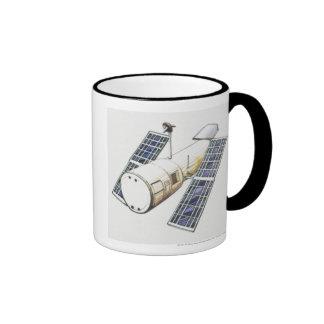 Illustration of satellite used for detecting mug