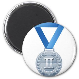 Illustration of silver medal magnet