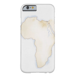Illustration of simple outline map of Africa Barely There iPhone 6 Case