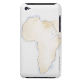 Illustration of simple outline map of Africa Barely There iPod Cover