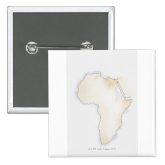 Illustration of simple outline map of Africa Button
