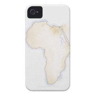 Illustration of simple outline map of Africa Case-Mate iPhone 4 Case