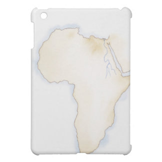 Illustration of simple outline map of Africa iPad Mini Cover