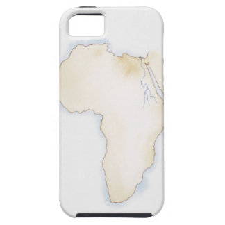 Illustration of simple outline map of Africa iPhone SE/5/5s Case