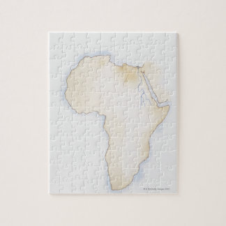 Illustration of simple outline map of Africa Jigsaw Puzzle