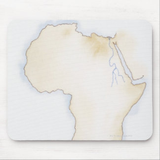 Illustration of simple outline map of Africa Mouse Pad