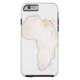 Illustration of simple outline map of Africa Tough iPhone 6 Case