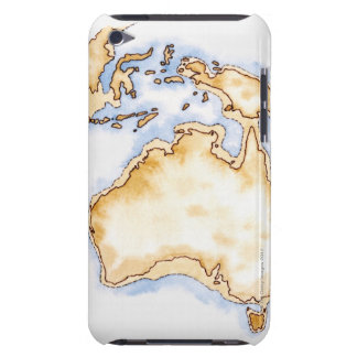 Illustration of simple outline map of Australia Barely There iPod Cover