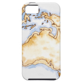 Illustration of simple outline map of Australia iPhone SE/5/5s Case