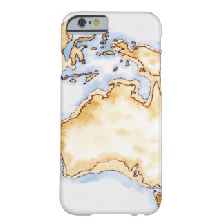 Illustration of simple outline map of Australia iPhone 6 Case